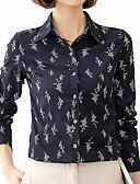 ieftine Bluză-Pentru femei Guler Cămașă Cămașă Muncă Floral