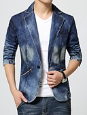 cheap Men's Sweaters & Cardigans-Men's Plus Size Blazer-Solid Colored Color Block / Please choose one size larger according to your normal size. / Long Sleeve