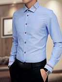 billige Herreskjorter-Store størrelser Skjorte Herre - Ensfarget