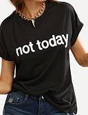 זול טרנינגים וקפוצ'ונים לנשים-אותיות משוחרר טישרט - בגדי ריקוד נשים / קיץ