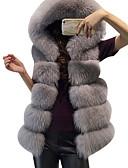 tanie Damskie płaszcze z futrem naturalnym i sztucznym-Kamizelka Damskie Podstawowy Luźna - Solidne kolory Sztuczne futro