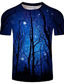 povoljno Muške majice i potkošulje-Veći konfekcijski brojevi Majica s rukavima Muškarci Dnevno Color block Okrugli izrez Print