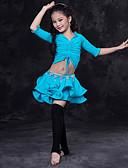 זול טרנינגים וקפוצ'ונים לגברים-ריקוד בטן תלבושות הצגה ספנדקס סלסולים חצי שרוול נפול חצאיות עליון