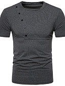 billige Poloskjorter til herrer-Polo Herre - Ensfarget Gatemote Svart L / Kortermet / Vår / Sommer