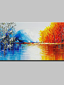 cheap Men's Ties & Bow Ties-Oil Painting Hand Painted - Abstract Landscape Modern Canvas