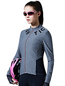 baratos Vestidos de Mulher-SANTIC Mulheres Manga Longa Camisa para Ciclismo - Cinzento Moto Camisa / Roupas Para Esporte