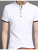 povoljno Muške majice i potkošulje-Majica s rukavima Muškarci Jednobojni Ruska kragna Osnovni