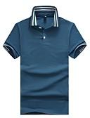 זול חולצות פולו לגברים-אחיד פסים קולור בלוק צווארון חולצה רזה עבודה Polo - בגדי ריקוד גברים בסיסי טלאים כותנה