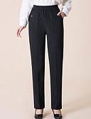cheap Women's Blouses-Women's Plus Size Straight Pants - Solid Colored Low Rise