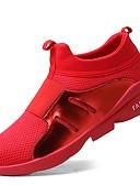 abordables Sudaderas de Hombre-Hombre Punto / Cuero Sintético / Tul Primavera / Otoño Confort Zapatillas de Atletismo Running / Paseo Negro / Gris / Rojo