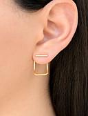 ieftine Tricou-Pentru femei Cercei Stud - femei, Modă Auriu / Argintiu / Roz auriu Pentru Zilnic Concediu
