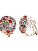 cheap Women's Nightwear-Women's Hoop Earrings - Gold Plated European Gold For Party / Birthday / Daily