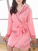 povoljno Ogrtači i odjeća za spavanje-Žene Duboki V Odijelo Pidžama Color block