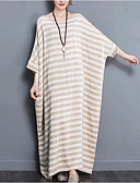 cheap Leggings-Women's Cotton Loose Dress - Striped Basic Maxi / Spring
