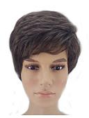 ieftine Maieu & Tricouri Bărbați-hairjoy Peruci Sintetice Drept Frizură în Straturi Păr Sintetic Linia naturală de păr Maro Perucă Bărbați Scurt Fără calotă Bej