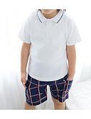 povoljno Kompletići za dječake-Dijete koje je tek prohodalo Dječaci Jednostavan Karirani uzorak Kratkih rukava Komplet odjeće