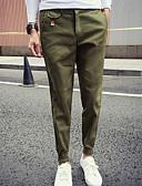cheap Men's Pants & Shorts-Men's Basic Daily Weekend Slim Slim / Sweatpants Pants - Solid Colored Cotton Light Blue Army Green Khaki XL XXL XXXL / Spring / Fall