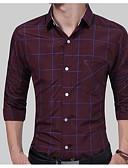 זול חולצות לגברים-פסים כותנה, חולצה - בגדי ריקוד גברים