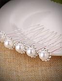 preiswerte Parykopfbedeckungen-Künstliche Perle / Strass Haarnadel mit Strass / Imitationsperle 5 Stück Hochzeit Kopfschmuck