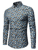 cheap Men's Exotic Underwear-Men's Street chic Shirt - Floral, Basic