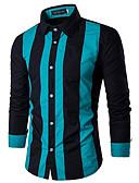 זול סוודרים וקרדיגנים לגברים-פסים רזה חולצה - בגדי ריקוד גברים / שרוול ארוך