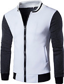 cheap Men's Shirts-Men's Jacket - Solid Colored Stand