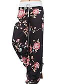 tanie Damskie spodnie-Damskie Boho Rozmiar plus Bawełna Spodnie szerokie nogawki Spodnie - Nadruk, Kwiaty