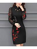 cheap Women's Dresses-Women's Work Street chic Boho Sheath Dress - Patchwork Stand