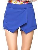 זול מכנסיים לנשים-בגדי ריקוד נשים סגנון רחוב שורטים מכנסיים - מותניים גבוהים מפוצל, אחיד / ליציאה