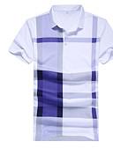 זול טישרטים לגופיות לגברים-פסים סגנון רחוב חולצה - בגדי ריקוד גברים / שרוולים קצרים