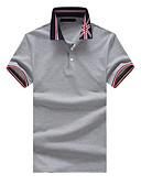 baratos Camisetas & Regatas Masculinas-Homens Polo Temática Asiática Floral Geométrica