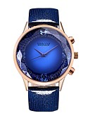 cheap Quartz Watches-BAOGELA Women's Casual Watch / Sport Watch / Fashion Watch Chinese Large Dial Genuine Leather Band Vintage / Fashion Blue / Red / Purple / Two Years