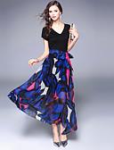 זול שמלות נשים-מקסי דפוס, חיה - שמלה סווינג בוהו בגדי ריקוד נשים