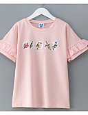 cheap Girls' Tops-Girls' Simple Solid Colored Short Sleeves Cotton Tee