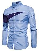 preiswerte Herrenhemden-Herrn Einfarbig - Grundlegend Hemd / Langarm