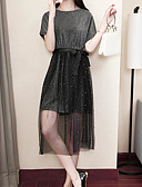 ieftine Costum Damă Două Bucăți-Pentru femei De Bază Bluză - Buline, Fustă Imprimeu