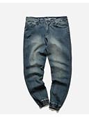 זול מכנסיים ושורטים לגברים-בגדי ריקוד גברים כותנה פשתן ג'ינסים מכנסיים אחיד