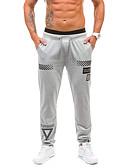 זול מכנסיים ושורטים לגברים-בגדי ריקוד גברים פעיל צ'ינו מכנסיים גיאומטרי / טלאים