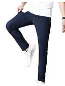 tanie Męskie spodnie i szorty-Męskie Prosty Typu Chino Spodnie Jendolity kolor