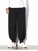 זול מכנסיים ושורטים לגברים-מכנסיים אחיד מכנסי טרנינג צ'ינו סגנון סיני בגדי ריקוד גברים