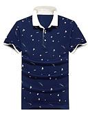 זול חולצות לגברים-גיאומטרי צווארון חולצה סגנון רחוב Polo-בגדי ריקוד גברים