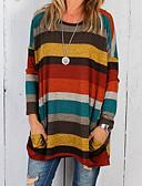 זול חולצה-פסים בסיסי בלוק צבע טישרט - בגדי ריקוד נשים