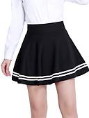 preiswerte Damen Röcke-Damen Übergrössen Baumwolle Bodycon Röcke - Solide Gefaltet