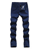 cheap Women's Belt-Men's Cotton Slim Chinos Pants - Solid Colored Print