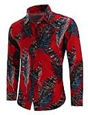 זול חולצות לגברים-גיאומטרי סגנון סיני מידות גדולות כותנה, חולצה - בגדי ריקוד גברים דפוס