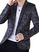 זול גברים-ג'קטים ומעילים-דפוס בלייזר-בגדי ריקוד גברים,דפוס / שרוול ארוך