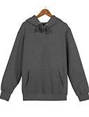 cheap Men's Hoodies & Sweatshirts-Men's Long Sleeves Hoodie - Solid Colored