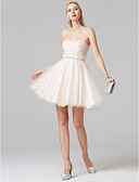 cheap Prom Dresses-A-Line / Princess Strapless Short / Mini Tulle Cocktail Party / Prom Dress with Beading / Criss Cross by TS Couture®