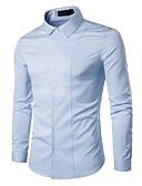 povoljno Muške košulje-Majica Muškarci - Osnovni Dnevno Jednobojni / Dugih rukava