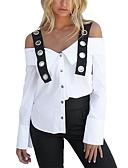 hesapli Maksi Elbiseler-Kadın's Askılı / Kayık Yaka Gömlek Zıt Renkli Temel Dışarı Çıkma / Kulüp / Bahar / Yaz